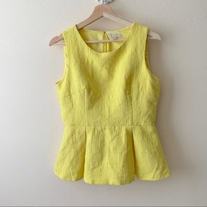 Banana Republic Yellow Peplum blouse